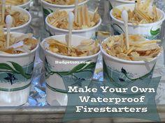 homemade waterproof firestarters