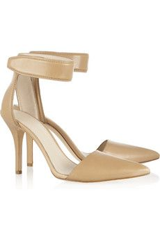 Modern nude ankle straps by Alexander Wang High Hill Shoes, Marc Jacobs Bracelet, Anna, Colorful Shoes, Ankle Strap Shoes, Nude Pumps, Leather Pumps, Beautiful Shoes, Alexander Wang