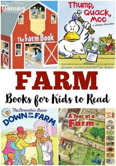 These fun kids books about farms are perfect for reading about farms, learning about farm animals, or doing a farm unit study!