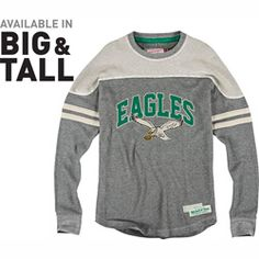 87f4223a1 Philadelphia Eagles Mitchell & Ness Retro Rush Line Long Sleeve Thermal Shirt  Eagles Jacket, Eagles