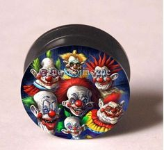 killer klowns from outer space  16mm 5/8 gauge USA pair acrylic clowns plugs #Unbranded