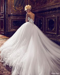 nurit hen 2016 bridal one shoulder sweetheart embellished neckline illusion strap ball gown wedding dress (05) romantic bv
