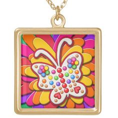 Butterfly Birthday - Sunny Rainbow Gold Plated Necklace Easy Diy Crafts, Diy Craft Projects, Diy Crafts To Sell, Diy Crafts For Kids, Golf Crafts, Fun Diy, Diy Father's Day Gifts, Valentine's Day Diy, Fathers Day Gifts