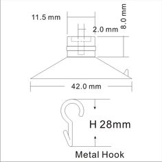 technical_drawing_transparent_suction_cup_hooks