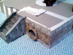 My miniature dollhouse progress as of January 20, 2017. This is the basement.