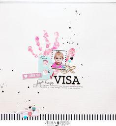 Дарите красиво...: Скрапбукинг с детьми и две совсем разные странички из одной коллекции