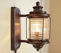 depot sconce from pottery barn