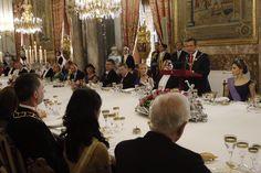 El Presidnete de Perú durante su intervención en la cena de gala Palacio de Real de Madrid, 07.07.2015