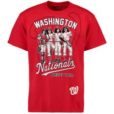 buy online d2930 9e7bd MLB Washington Nationals KISS Dressed To Kill T-Shirt - Red Baseball  Fashion, Washington