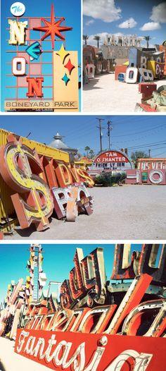 """The Neon Boneyard, Las Vegas.  """"Where Neon Signs go to Die"""""""
