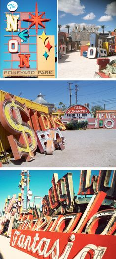 "The Neon Boneyard, Las Vegas.  ""Where Neon Signs go to Die"""