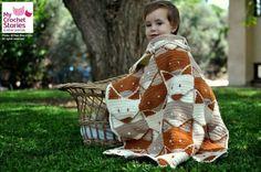 Crochet Baby Blanket Pattern Fox Baby Blanket by MyCrochetStories