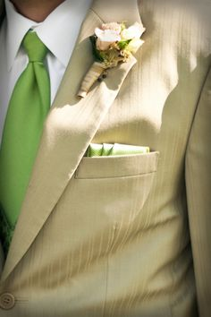Applie Green Ties and Khaki Suits