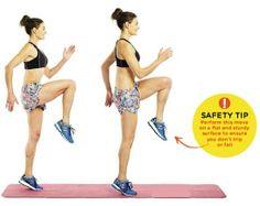 HIGH KNEES Area trained: LEGS