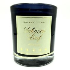 Holiday Glow Tobacco Leaf Elegant Aroma Scented Candle in Glass Jar Two Wicks #DWHome