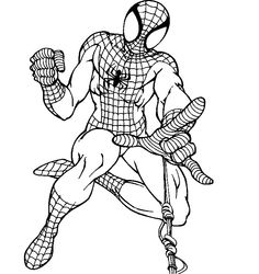 Black Spider Man Coloring Pages