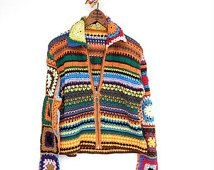 GRANNY SQUARES Colorful Crochet Sweater