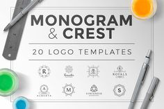 Monogram & Crest Logos Set by Zeppelin Graphics on Creative Market