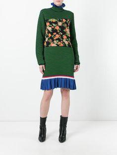 MSGM 플로럴 스트라이프 드레스