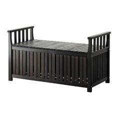 ÄNGSÖ Storage bench - black-brown  - IKEA