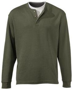 RedHead Workhorse Doubler Henley Shirts for Men - Moss - XL