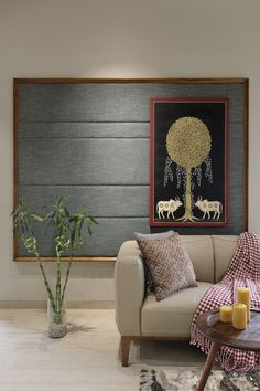 Ideas Wall Paneling Design Traditional For 2019 Home Art Studios, Art Studio At Home, Ethnic Home Decor, Indian Home Decor, Living Room Designs, Living Room Decor, Drawing Room Interior, Drawing Room Wall Design, Art Deco Furniture