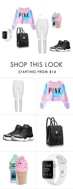 """""""pink"""" by tkaigibson-1 on Polyvore featuring Topshop, Chicnova Fashion, NIKE and Kate Spade"""