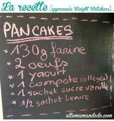 The easy recipe for Sunday pancakes light! (Weight Watchers approved - The easy recipe for Sunday pancakes light! Sunday Recipes, Brunch Recipes, Diet Recipes, Breakfast Recipes, Brunch Food, Pancake Cake, Pancakes Ww, Weigh Watchers, Zucchini Cake