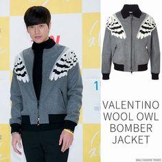 Park Hae-Jin y su Wool Owl Bomber Jacket de Valentino - Male Fashion Trends