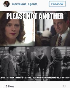 I did it once with FitzSimmons. I need Peggy and Sousa to be together this season