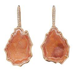 kimberly mcdonald geode and diamond earrings