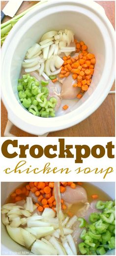 Chicken soup in the crockpot is the best! You've got to try this easy slow cooker recipe that takes just 10 minutes to prep. It's amazing!! AD