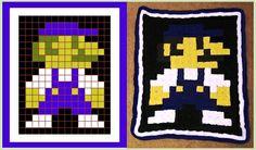 Mario pixel crochet blanket  - A Gamer's Wife