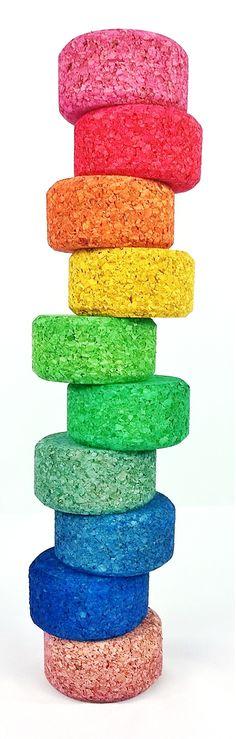 KORXX Color stack - cork building blocks - indoor and outdoor play