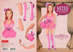 Fanny Cheval - Puppets  http://www.blueart.fr/francais/carte-a-decouper-mes-puppetts-miss-birthday-par-fanny-cheval-14-8-x-21-cm.html