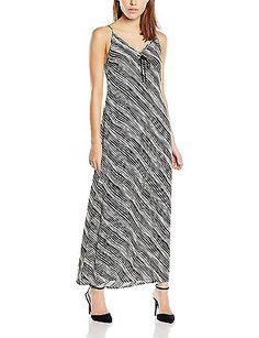 8, Black - Noir (Noir Stripes), School Rag Women's Rosace Sleeveless Dress NEW
