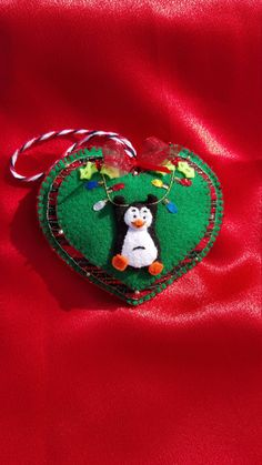 Penguin Felt Ornament-Handmade felt by DebsArtsyEnchantment