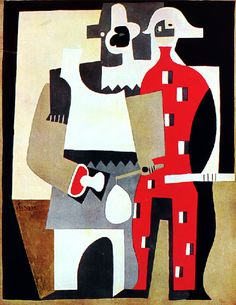 Pablo Picasso. 1920-1921 Pierrot and Harlequin.