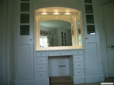 wardrobe with dressing table bedroom ideas pinterest  Wardrobe Dresser with Mirror