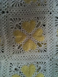 Delicate, Lacy Valentine Square Afghan by Terry Kimbrough, FREE pattern at Ravelry.* ༺✿ƬⱤღ https://www.pinterest.com/teretegui/✿༻