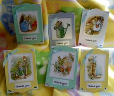 Seed Packet Favors...3D...Bundle of 20.... Beatrix Potter Peter Rabbit...Free Personalizing...Baby Shower Favors