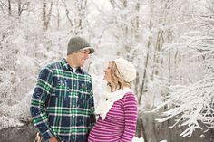 kelsey + tom :: winter wonderland maternity session