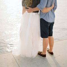 JFK inspired engagement sesh with a tulle skirt / photo by katbraman.com