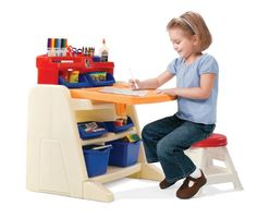 Toys for Girls - Gifts for 5 Year Old Girls - Flip and Doodle Easel Desk with Stool