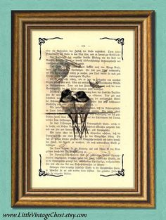 A HAPPY COUPLE  Dictionary Art Print  by littlevintagechest, $7.99