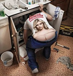 Magic shirt turns plumber s buttcrack into lady