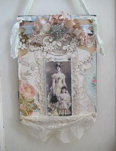 beautiful collage by Heather Kowalski  of Pretty Petals blog
