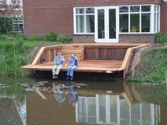 Landscape Architecture, Landscape Design, Modern Pond, Farm Pond, Landscaping On A Hill, Lake Dock, Floating Dock, House Deck, Ponds Backyard