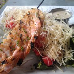 Owen's Fish Camp. Grilled Romaine Caesar Salad with Grilled Shrimp.  Delicious and only $9.00!  http://www.srqreviews.com/index.cfm?action=RRD_ID=682