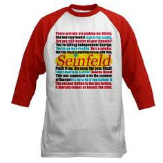 1d8cc59a0411 Seinfeld Quotes Logo Baseball Tee  Seinfeld Quote Collage  Epic Love - TV  and Movie Shop